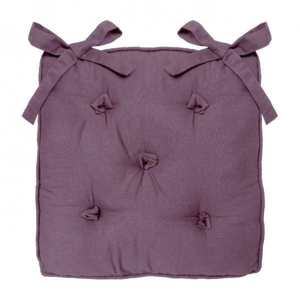 Coussin de chaise 5 Boutons Prune