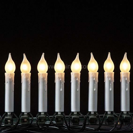 Guirlande lumineuse 12 m Bougies LED blanc froid