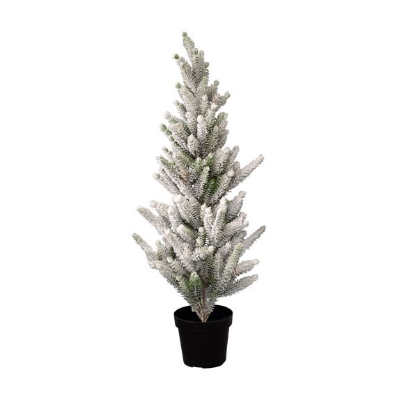 Sapin artificiel de table Sili H80 cm Vert enneigé