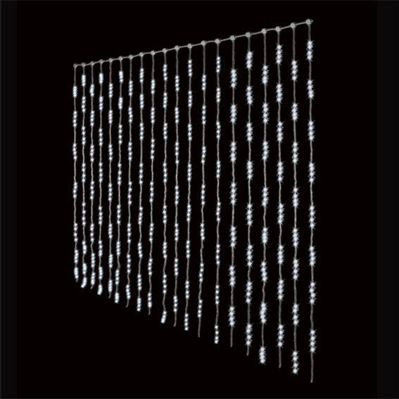 Rideau lumineux H3 m Blanc froid 1280 LED