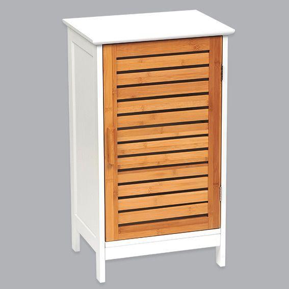 Meuble bas de salle de bain bakou bois bambou meuble Petit meuble salle de bain bambou