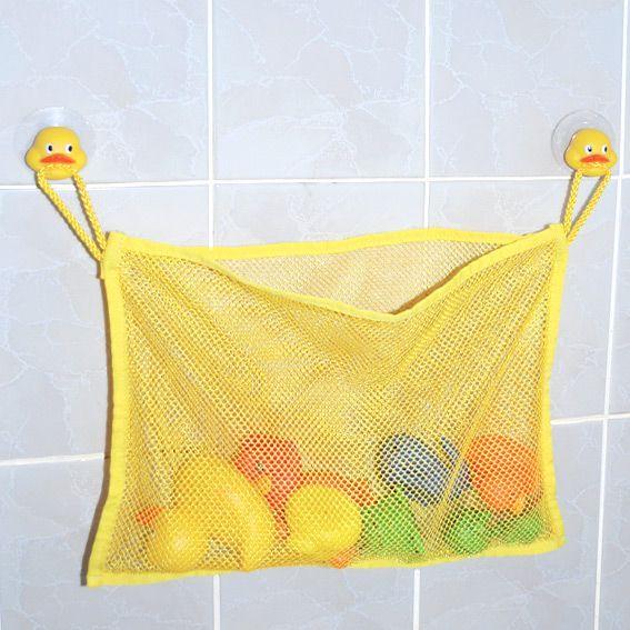 Filet à jouets de bain Canard Enfant Jaune - Accessoire Salle de bain - Eminza