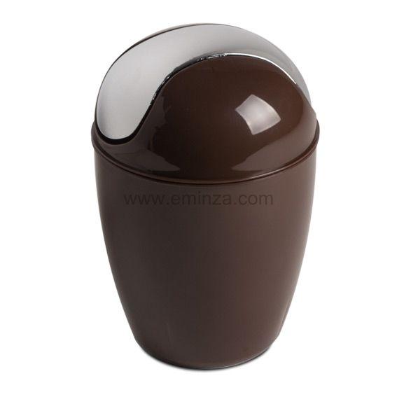 Mini poubelle happy chocolat eminza - Mini poubelle de salle de bain ...