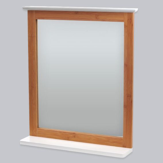 Miroir de salle de bain bakou bois bambou accessoire salle de bain eminza - Miroir en bois salle de bain ...