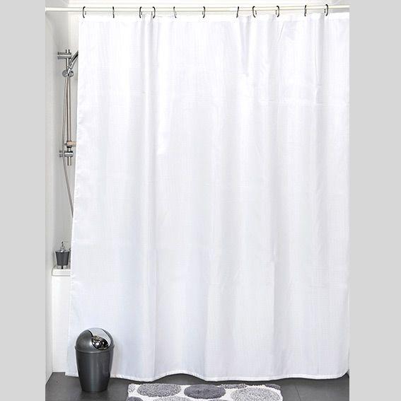 rideau de douche polyester 180 x 200 cm nid d abeille blanc. Black Bedroom Furniture Sets. Home Design Ideas