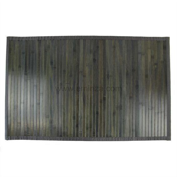 tapis de bain lattes bambou gris tapis salle de bain. Black Bedroom Furniture Sets. Home Design Ideas