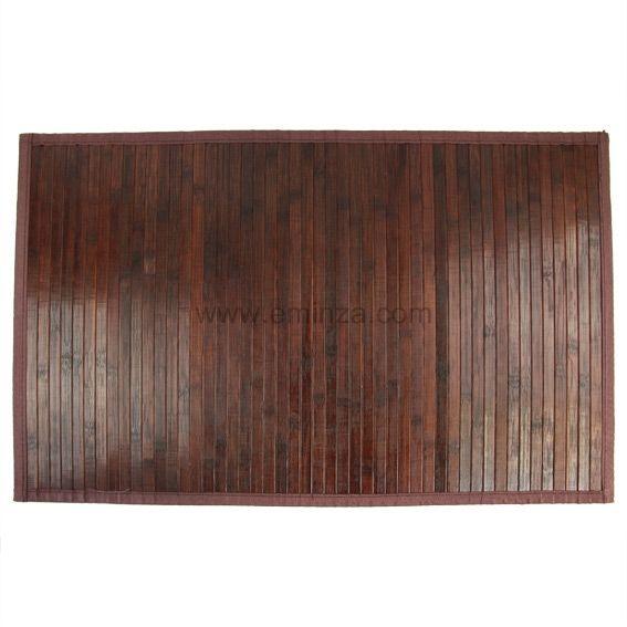 Style montagne eminza for Tapis de bain en bois de bambou