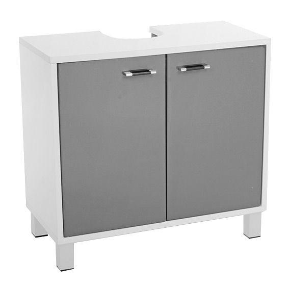 Meuble dessous lavabo dinamo gris dessous lavabo eminza for Lavabo gris salle bain