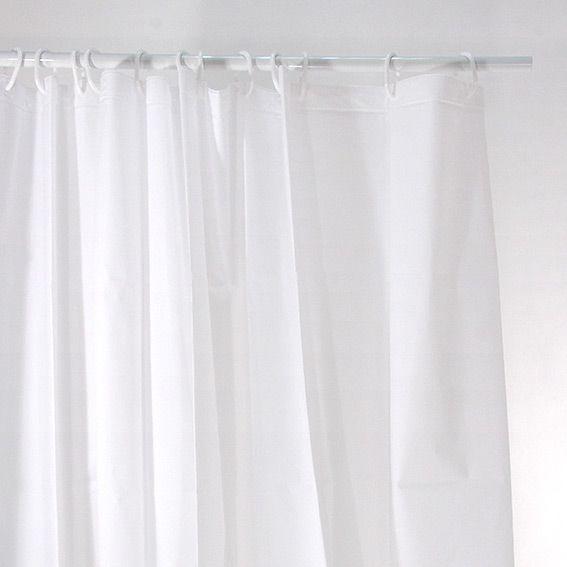 rideau de douche uni blanc premium accessoire douche baignoire eminza. Black Bedroom Furniture Sets. Home Design Ideas