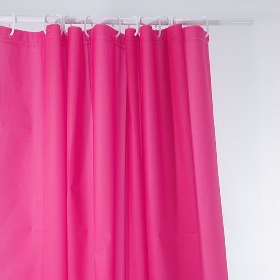 rideau de douche uni rose premium accessoire douche. Black Bedroom Furniture Sets. Home Design Ideas