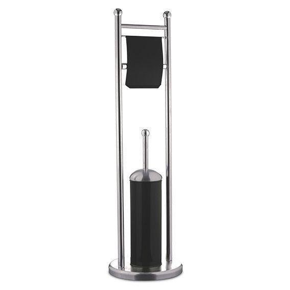 Porte papier et brosse de toilettes ida noir brosse wc eminza - Porte papier toilette noir ...