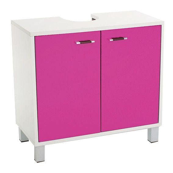 Meuble dessous lavabo dinamo rose dessous lavabo eminza - Meuble salle de bain rose ...