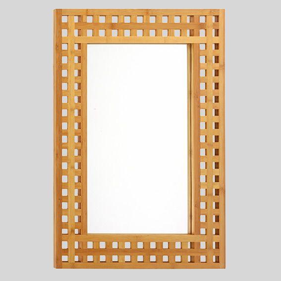 Soldes miroir de salle de bain contemporain bois bambou for Soldes miroir contemporain
