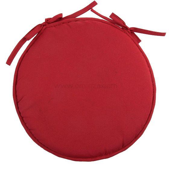 galette de chaise ronde nelson rouge d co textile eminza. Black Bedroom Furniture Sets. Home Design Ideas