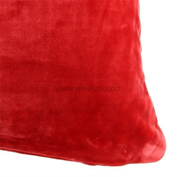 housse de coussin 60 cm doudou rouge d co textile eminza. Black Bedroom Furniture Sets. Home Design Ideas