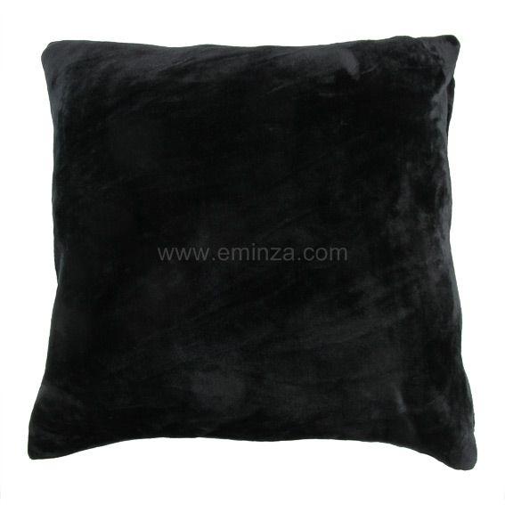 Housse de coussin polaire (60 cm) Gamme Doudou Noir