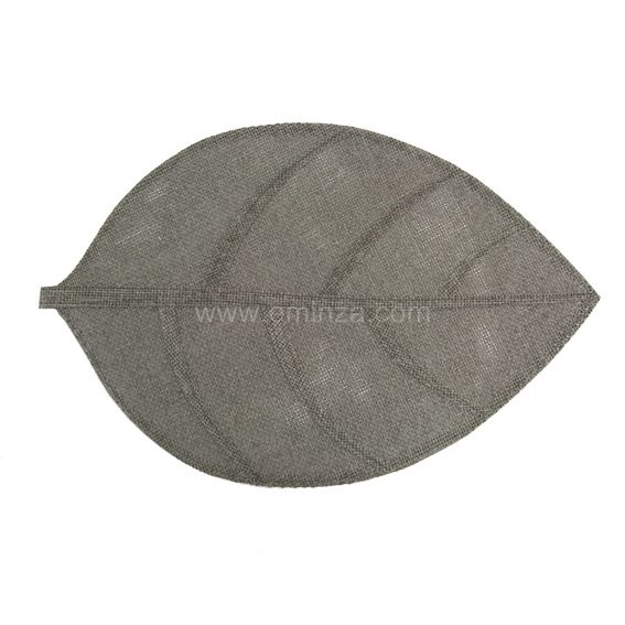 Set de table Feuille Gris