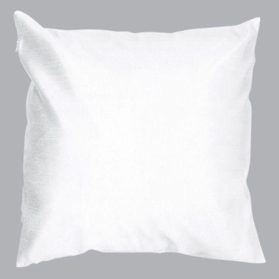 housse de coussin shantung soiry blanc coussin et housse de coussin eminza. Black Bedroom Furniture Sets. Home Design Ideas