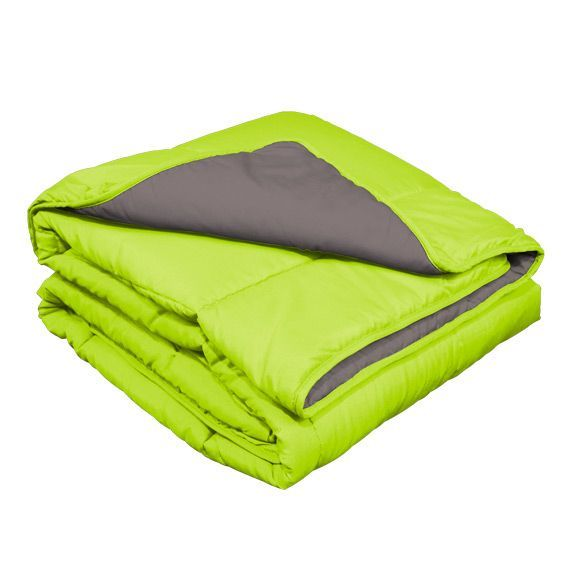 couette 140 cm bicolore demi saison vert couette eminza. Black Bedroom Furniture Sets. Home Design Ideas
