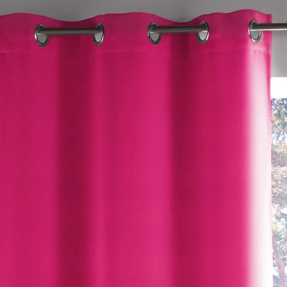 rideau oeillets occultant h260 lumia fuchsia eminza. Black Bedroom Furniture Sets. Home Design Ideas