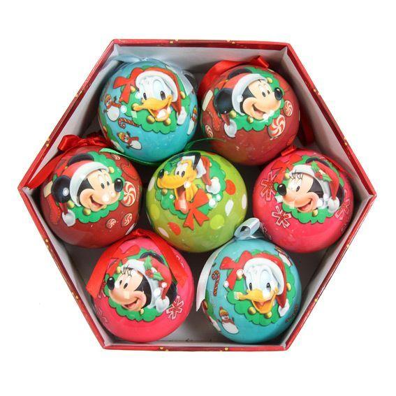 Lot de 7 boules de No�l Disney Mickey Multicolore