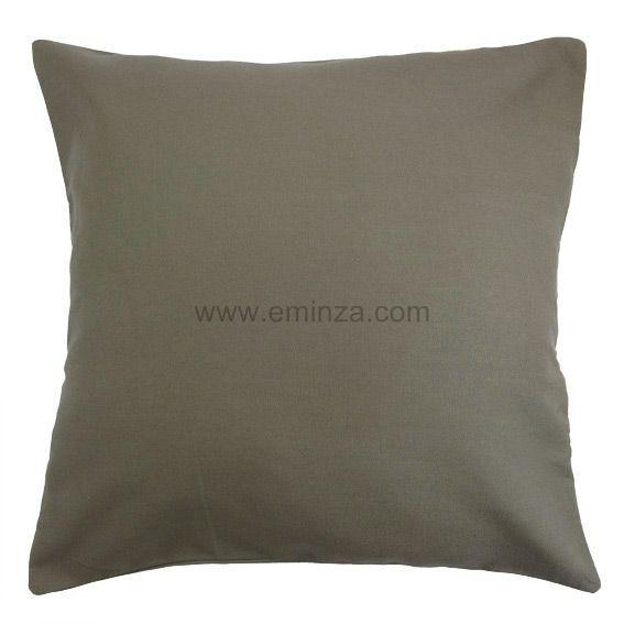 lot de 2 housses de coussin 60 cm contemporaine taupe coussin et housse de coussin eminza. Black Bedroom Furniture Sets. Home Design Ideas