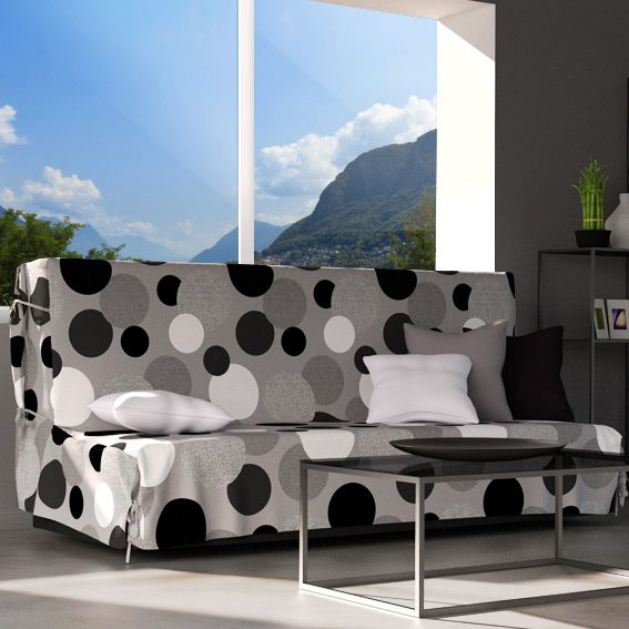 housse de clic clac pop gris eminza. Black Bedroom Furniture Sets. Home Design Ideas