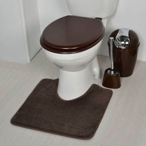 tapis contour wc design chocolat tapis contour wc eminza. Black Bedroom Furniture Sets. Home Design Ideas