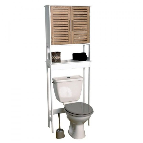 Dessus wc meuble eminza for Meuble dessus wc bambou