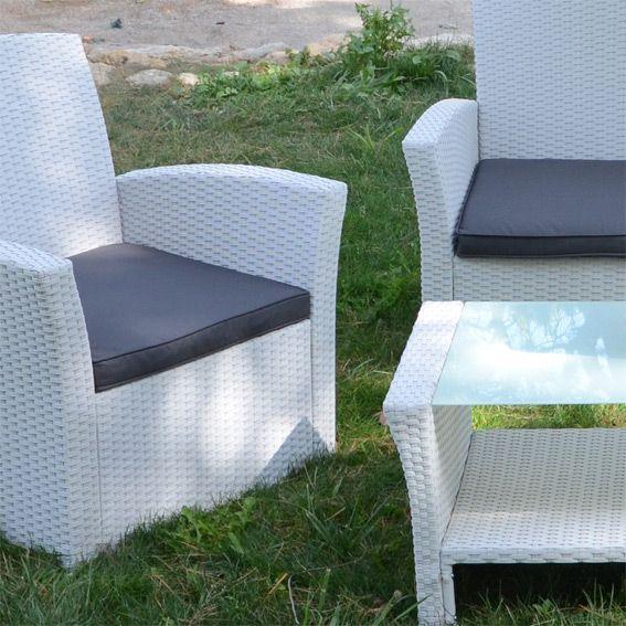 lot de 3 coussins pour salon de jardin ibiza anthracite coussin et matelas pour mobilier. Black Bedroom Furniture Sets. Home Design Ideas