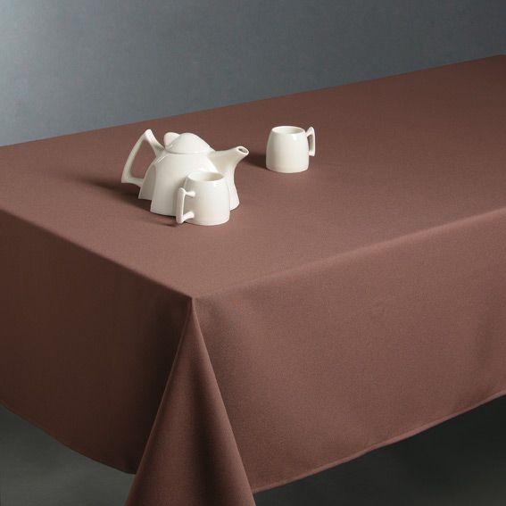 nappe rectangulaire l300 cm uni taupe. Black Bedroom Furniture Sets. Home Design Ideas