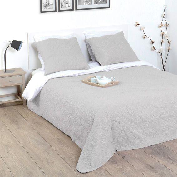 boutis et taies d oreiller arabesque gris. Black Bedroom Furniture Sets. Home Design Ideas