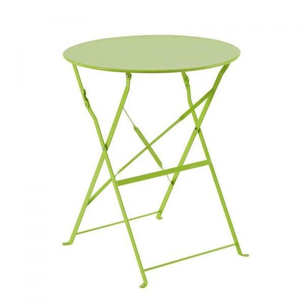 table de jardin ronde pliante m tal camargue d60 cm granny salon de jardin table et. Black Bedroom Furniture Sets. Home Design Ideas