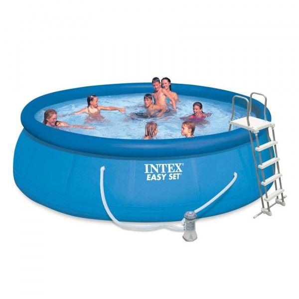 Piscine autostable easy set 4 57 x h 1 07 m intex for Accessoire piscine 07