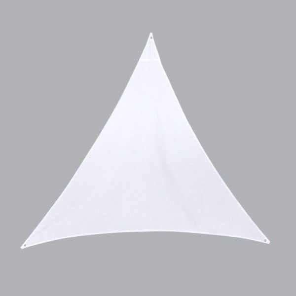 Voile d 39 ombrage triangulaire l4 m anori blanc voile d 39 ombrage eminza - Voile d ombrage triangulaire ikea ...