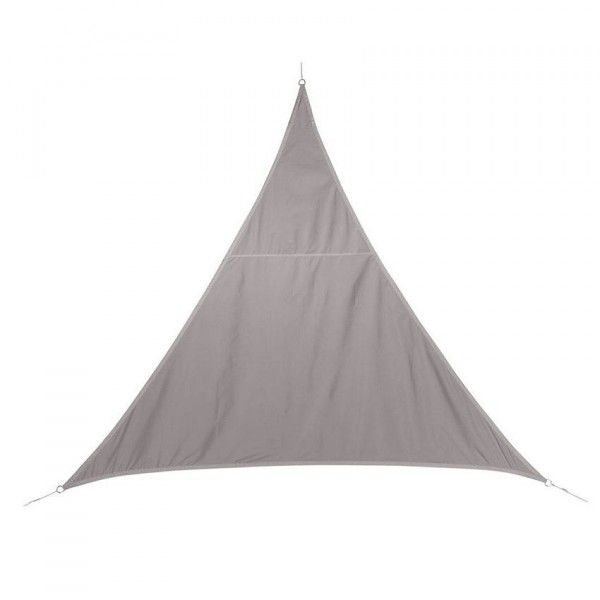 Voile d 39 ombrage triangulaire l4 m curacao taupe voile d 39 ombrage eminza - Voile d ombrage triangulaire gifi ...