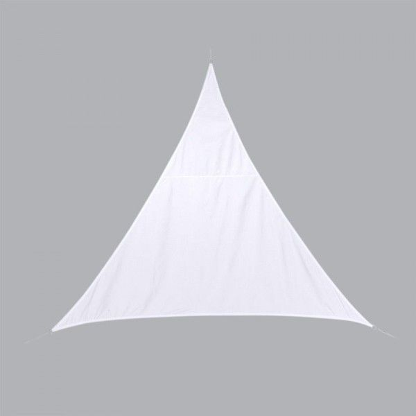 Voile d'ombrage Triangulaire (L5 m) Curacao - Blanc