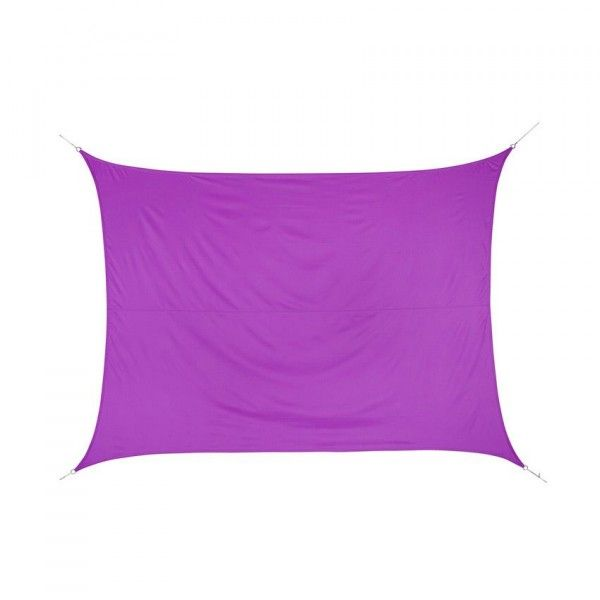 Voile d'ombrage Rectangulaire (3 x 4 m) Curacao - Violet