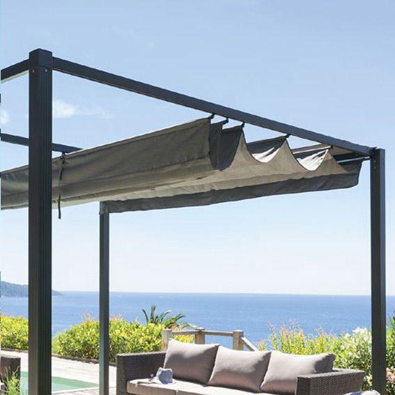 toile de tonnelle elliston cabriolet 3 x 3 m gris. Black Bedroom Furniture Sets. Home Design Ideas