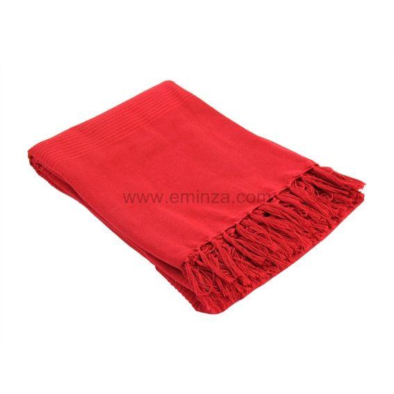 jet de canap 220 cm lana rouge d co textile eminza. Black Bedroom Furniture Sets. Home Design Ideas