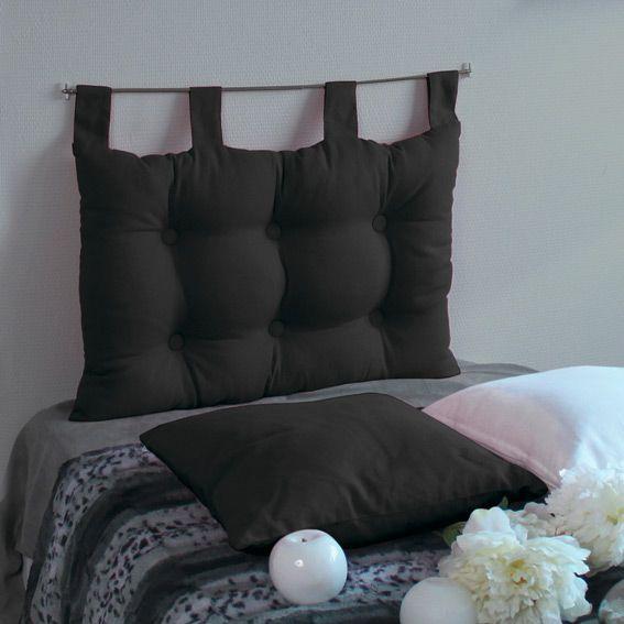 T�te de lit (60 cm) Capiton Noir