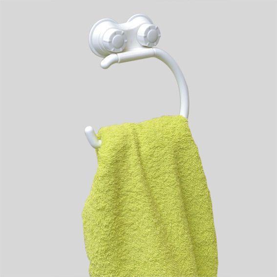Porte serviette ventouse veri blanc eminza for Distributeur coton ventouse