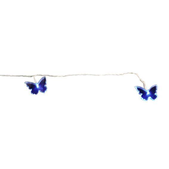Decoration de jardin argent eminza - Guirlande lumineuse papillon ...