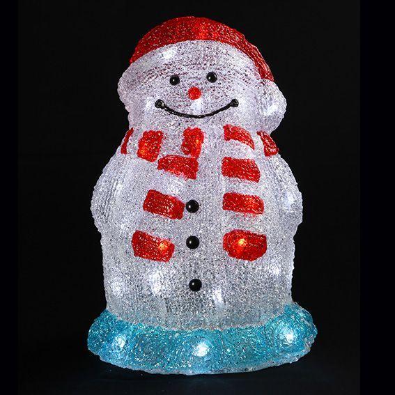bonhomme de neige lumineux led luca blanc froid personnage animaux et objet lumineux eminza. Black Bedroom Furniture Sets. Home Design Ideas