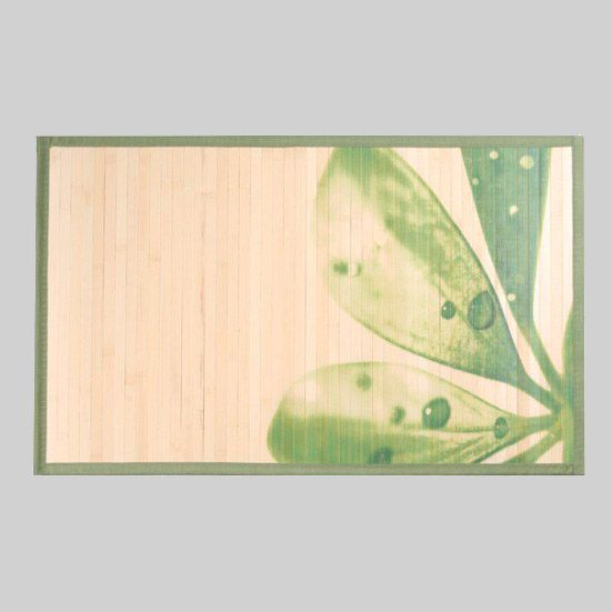tapis bambou imprime nature 50 80cm. Black Bedroom Furniture Sets. Home Design Ideas