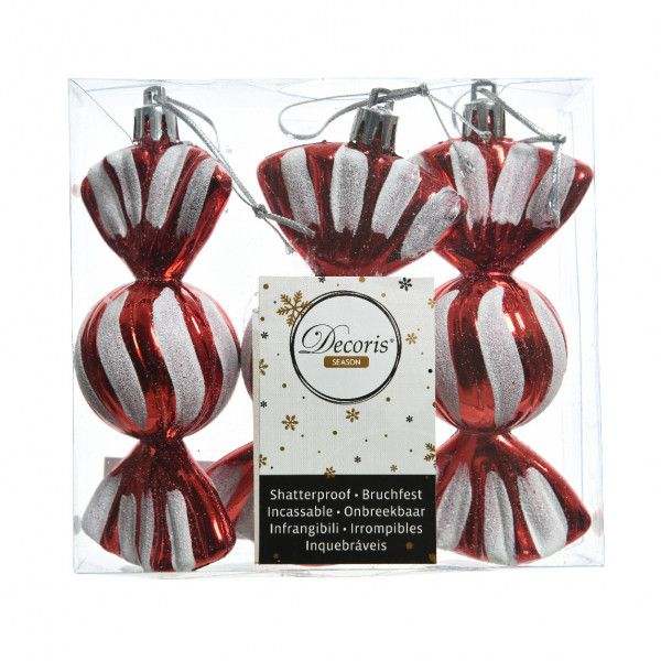 Lot de 3 bonbons gourmands Rouge