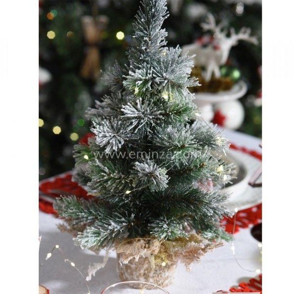 Sapin artificiel de table vancouver h35 cm vert enneig - Decoration sapin enneige ...