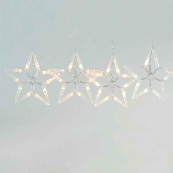 Guirlande lumineuse Etoiles Star Blanc chaud