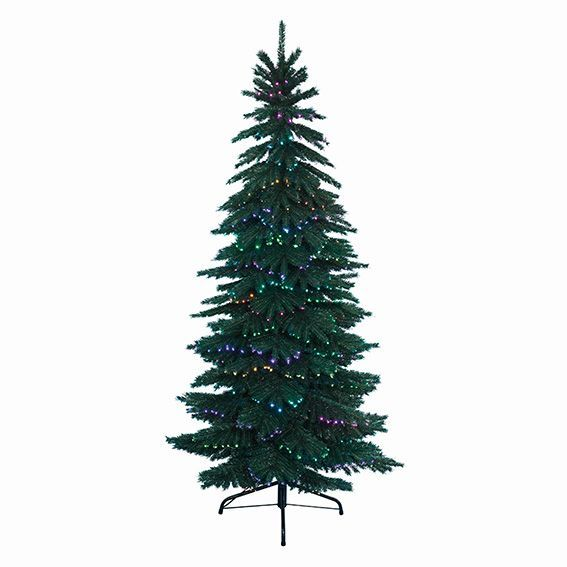 Sapin de Noël en fibre optique Dancing H120 cm