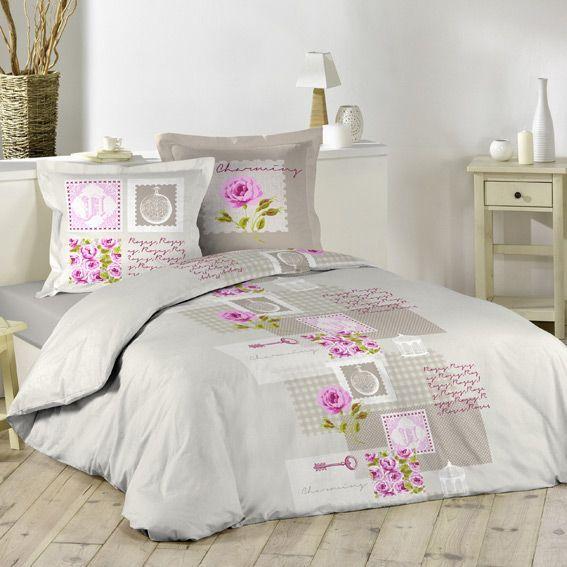 housse de couette flanelle linge de lit eminza. Black Bedroom Furniture Sets. Home Design Ideas
